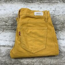 levi cordaroy mustard yellow pants too super low 524 jeans skinny