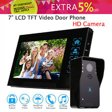 """7"""" LCD Intercom Video Door Bell Phone Cam+Monitor For Home Office System LOCAL"""