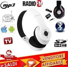 CUFFIE BLUETOOTH CUFFIA WIRELESS MP3 CON RADIO FM SLOT MIRCO SD STEREO CELLULARE
