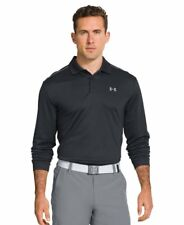 New Mens Under Armour Athletic Gym Rugby UA Infrared Long Sleeve Polo Top a5eabde793