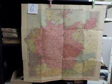alte Landkarte Das deutsche Reich 10. Oktober 1938 6