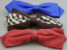 LOT OF 3 VINTAGE MEN'S CLIP-ON BOW TIES-ARROW/U-CLIP/BEST CLIP  #2