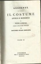 124) FERRARIO COSTUME ANTICO E MODERNO AMERICA ILLUSTRATO 1837