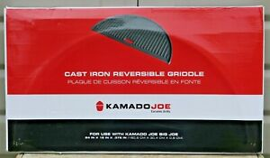 HALF MOON REVERSIBLE KAMADO JOE CAST IRON GRIDDLE for DIVIDE & CONQUER COOKING