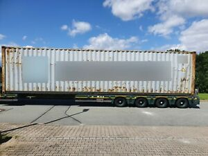 40ft Fuß high cube Container Seecontainer Materialcontainer Lager Box Bastler
