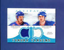 2012 UD ARTIFACTS HOCKEY TUNDRA TANDEMS MARK MESSIER - MIKE GARTNER DUAL JERSEY