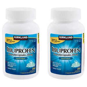 Kirkland Ibuprofen Liquid Softgels 360 ct 200mg  Pain/Fever Reliever Capsules