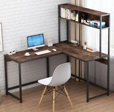 Wooden L-Shaped Corner Computer Desk, PC Study Desk With Shelf Home Furniture US
