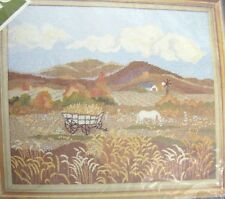Marjorie Gosz Masterpiece - Factory Sealed Vtg Needlepoint Kit - Field of Wheat