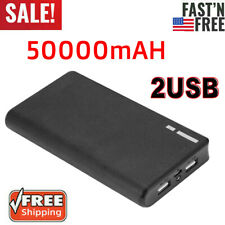 50000mAh Power Bank Dual USB Portable External Battery Backup Charger For Phone