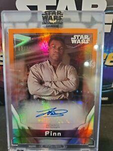 2021 Topps Star Wars Signature Series John Boyega Orange Refractor SSP Auto /10