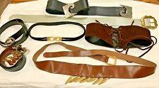 Lot 7 vintage belts Ysl, Gucci, Dior, D & G, Cardin designer S - Lg / 60s - 90s