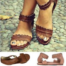 GLADIATORE SANDALI CASUAL PER donne estate bassa scarpe in pelle ROMA stile