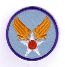 """WWII - ARMY AIR FORCE """"Light Blue Felt"""" (Reproduction)"""