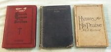 3 Vintage Book Chant and Service Church Hymns and Services For His Praise Lot