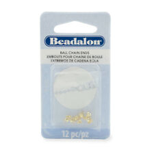 Beadalon® Ball Chain Ends 3.8mm Gold Color 12 pieces * Findings