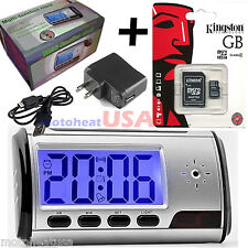 16GB Spy Cam Hidden Camera Nanny Alarm Clock Mini DVR Remote Camcorder IN BOX