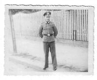 Foto, Soldat in Uniform, Mütze