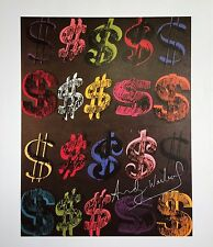 ANDY WARHOL HAND SIGNED SIGNATURE * U.S. DOLLAR SIGN *  PRINT  W/ C.O.A.
