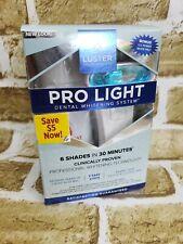 LUSTER Premium White Pro Light TEETH WHITENING SYSTEM Mouth Rinse & Whitener Gel