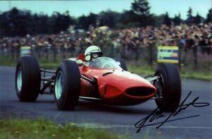 John Surtees Ferrari 158 Winner German Grand Prix 1964 Signed Photograph 2