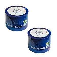 100 AONE DVD-R con logo 4.7GB (16x) 120MIN (continuo) DVDR non stampabile