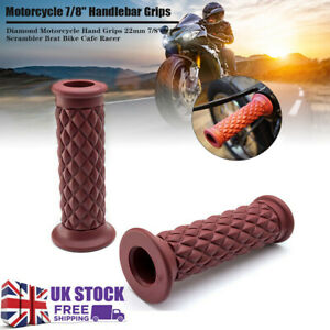 "Replacement Motorcycle/Motorbike Handlebar Grips 7/8"" Retro Universal Hand Cover"