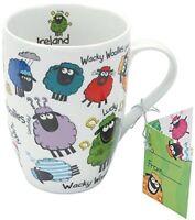 Wacky Woolies Ceramic Coffee Tea Mug Sheep Motif 10 fl oz Funny Gift Cup