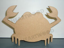CRAB SHAPE IN MDF (150mm x 18mm thick)/WOODEN BLANK CRAFT SHAPES/NAUTICAL