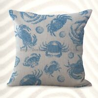 sailing sea life crab cushion cover outdoor pillow covers