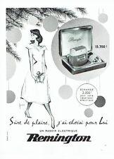 PUBLICITE ADVERTISING 126  1957  rasoir  éléctrique Remington par