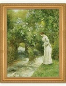Victorian Trading Co The Mill Stream in Spring Arthur Hopkins Print New