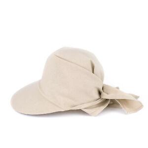 Sonnenschild/Visor mit extra großem Schirm und Tuch zum binden 100% Baumwolle