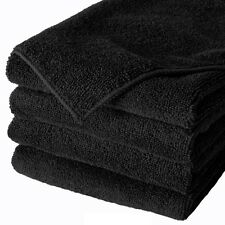 20 PACK NEW MICROFIBER TOWELS CLEANING TOWEL PLUSH 16X16 300 GSM LINT FREE BLACK