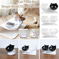 Double Elevated Pet Bowl Cat Dog Feeder Food Water Raised Lifted Stand Holder AU