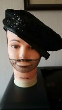 mens sequin hat with faux leather band gay interest  causal cap headwear