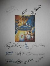 Beauty and the Beast Signed Film Script X14 Angela Lansbury Jerry Orbach reprint