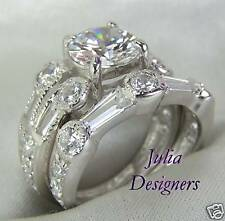 2.65 ct Brilliant Cut  Engagement/Wedding Ring Set, Sz6