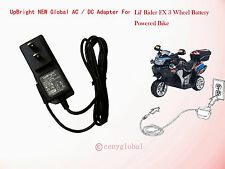 Global AC Adapter For Lil Rider FX3 FX 3 Wheel Battery Powered Bike Power Supply