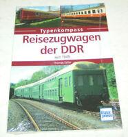Reisezugwagen der DDR - Deutsche Reichsbahn - seit 1949 - Typenkompass