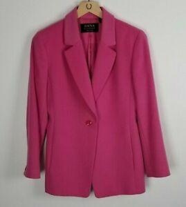 Dana Buchman Petite Sz. 6 Pink Single Button 100% Cashmere Blazer/Jacket
