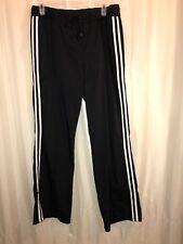 SJB ACTIVE Black w/ White Stripes Athletic Pants Women's SIZE LARGE