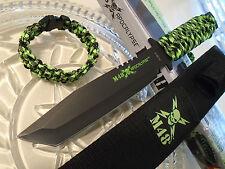 "M48 Apocalypse Tanto Combat Fighter Knife Survival Bracelet Set Full Tang 11.5"""