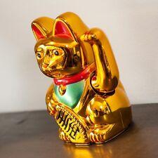 NEW gattino  Maneki neko giapponese porta fortuna dimensioni 15cm x 12cm x 8cm