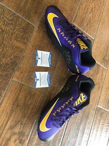 Juju Smith Autographed Football Nike Cleats Beckett Coa Singed Laker Kobe 8-24
