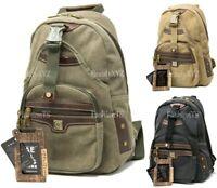Aerlis Military Canvas Sling Backpack School Bag Laptop Padding Bookbag Hiking
