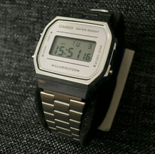 CASIO VINTAGE COLLECTION A168WEM-7ER SILVER MIRROR FACE BRAND NEW