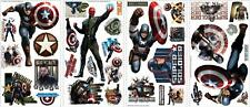 The Avengers Captain America Wall Decal Sticker Super Hero Comic Peel and stick