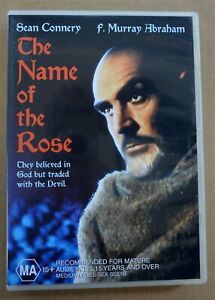 THE NAME OF THE ROSE dvd RARE OOP Sean Connery REGION 4 christian slater