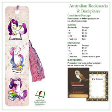 Unicorns Reading bookmark with tassel